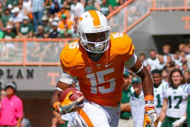 New Tennessee Volunteers head coach Jeremy Pruitt confirmed this week that receiver Jauan Jennings (15) has been added back to the active roster, per the Knoxville News Sentinel. Photo courtesy of Tennessee Football/Twitter
