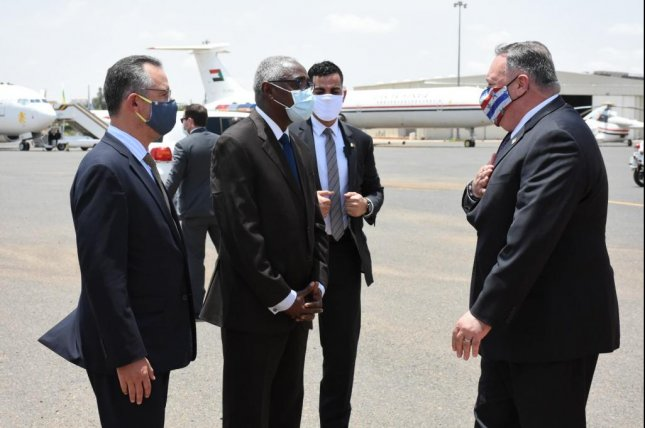 U.S. Secretary of State Mike Pompeo is greeted at Khartoum International Airport in Khartoum, Sudan, on Tuesday. Photo courtesy Secretary of State Mike Pompeo/Twitter
