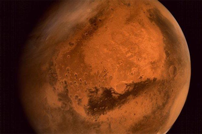 India's Mars Orbiter Mission captures an impressive image of Mars. (ISRO/MOM)