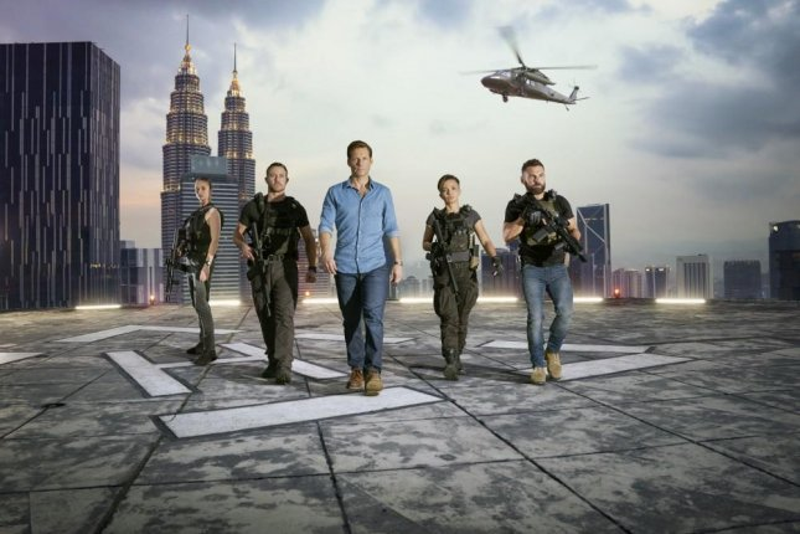 Yasemin Allen, Warren Brown, Jamie Bamber, Alin Sumarwata and Daniel MacPherson are working on Season 6 of Strike Back. Photo by Hal Shinnie/Cinemax
