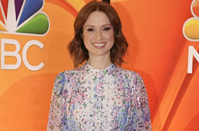 Ellie Kemper arrives to discuss Unbreakable Kimmy Schmidt with reporters in New York on Sept. 6. Photo by Virginia Sherwood/NBC