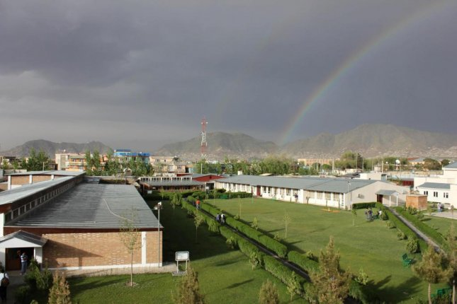 The American University of Afghanistan, seen here during a rainy day, will be closed until Wednesday after an American and Austrian professor were kidnapped. There has been no claim of responsibility. Photo courtesy of American University of Afghanistan