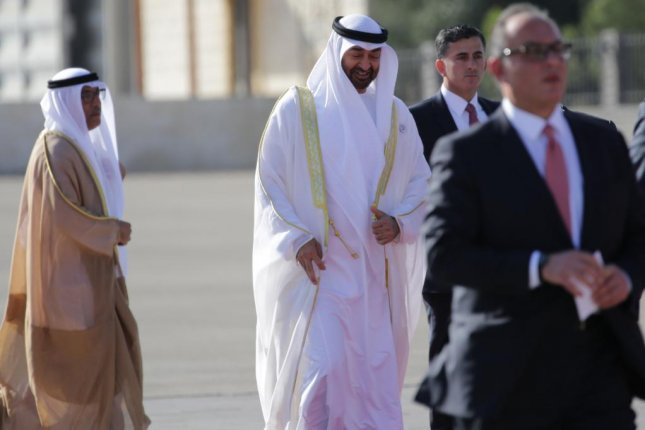 UAE Crown Prince Mohamed bin Zayed, pictured, was contacted by British diplomat Jeremy Hunt about the Matthew Hedges spying case. Photo by Andre Pain/EPA-EFE
