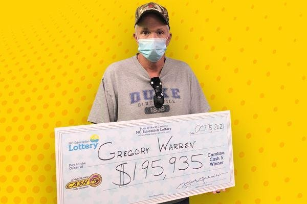 Gregory Warren, of Franklinville, N.C., said he didn't know about his $195,935 Cash 5 lottery prize until days later because he forgot he had even purchased a ticket. Photo courtesy of the North Carolina Education Lottery