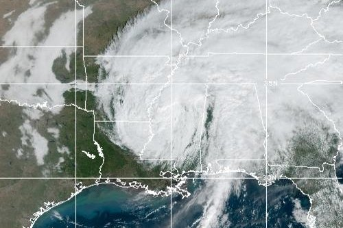 Delta was expected to remain a tropical depression through Monday morning. Photo courtesy of NOAA
