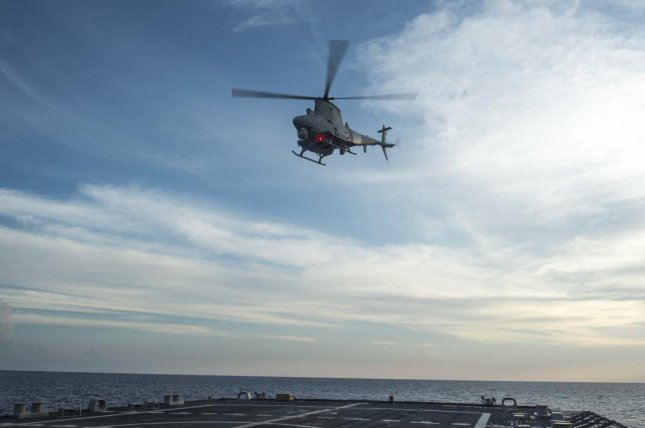 An MQ-8 Fire Scout launches from the Littoral Combat Ship USS Fort Worth. U.S. Navy photo.