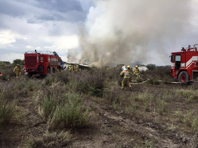 An Aeromexico plane crashed while traveling from Durango to Mexico City on Tuesday, the airline confirmed. Photo courtesy Proteccion Civil DGO/Twitter