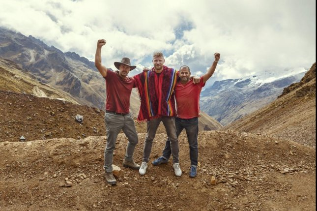 Top Gear Season 28 kicks off Sunday on BBC America with a special that takes Paddy McGuinness (L,) Freddie Flintoff (C) and Chris Harris to Nepal. Photo courtesy of BBC America