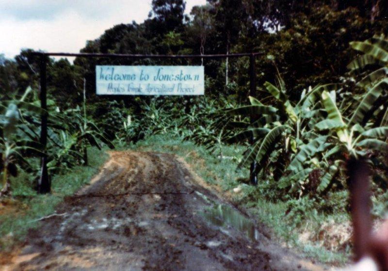 Entrance to Jonestown. Photo courtesy the Jonestown Institute at San Diego State University