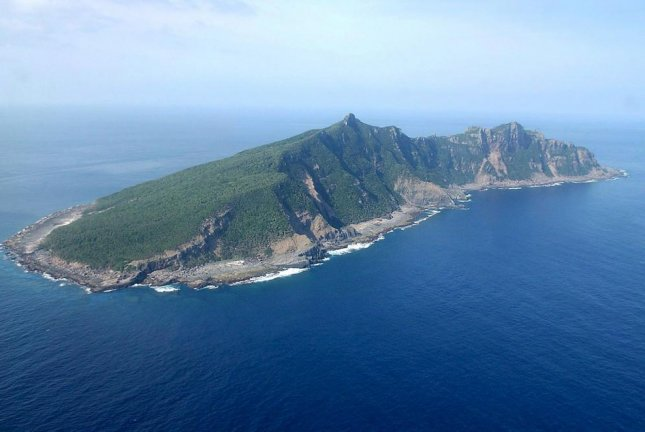 Chinese boats recently sailed near Uotsurishima, an island in the Senkaku Archipelago, according to Japanese news services. File Photo by Hiroya Shimoji/EPA