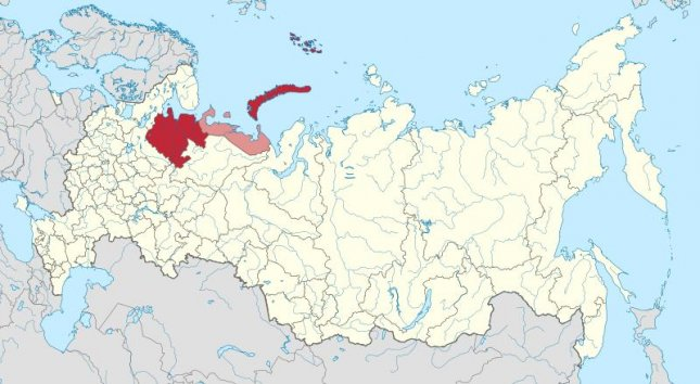 Russia's nuclear corporation Rosatom said five employees have died and three have been treated for burns after a liquid-propellant engine exploded during a test at a military training site in the Arkhangelsk region. Map by {link:Stasyan117/Wikimedia Commons