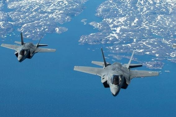 F-35 Lightning II fighter planes of Britain's Royal Navy fly in formation. The United States sold $55.4 billion in weapons in Fiscal Year 2019, the Defense Security Cooperation Agency reported on Tuesday. Photo courtesy of Royal Navy