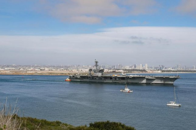 USS Abraham Lincoln departed San Diego Monday for two days of sea trials after undergoing a seven-month Planned Incremental Availability for maintenance and upgrades. Photo by Robin Lee/U.S. Navy