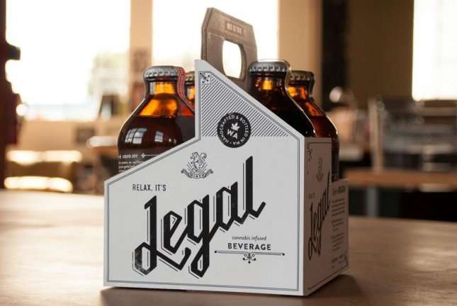 Legal brand sparkling cannabis-infused soda. Bottles like these were pulled from three stores due to a problem with exploding. (Mirth Provisions)