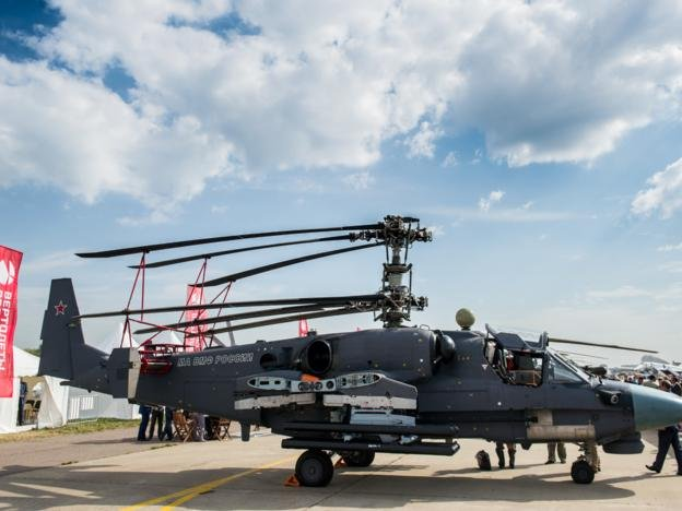The state-of-the-art Ka-52K Katran helicopters will be tested in Syria. Photo courtesy of Rostec