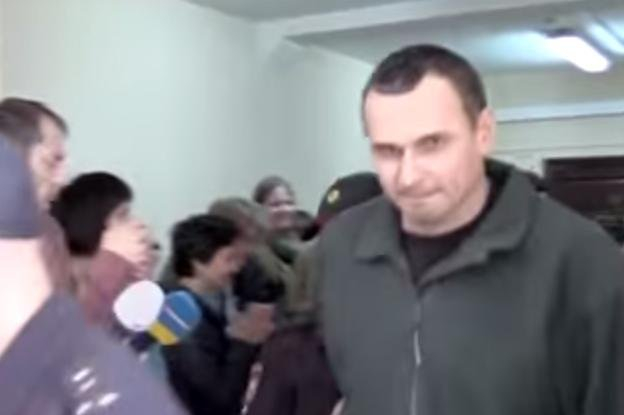 Ukrainian director Oleg Sentsov could face up to 23 years in prison on charges of plotting terrorist acts in Crimea. Screenshot photo by Громадське Телебачення