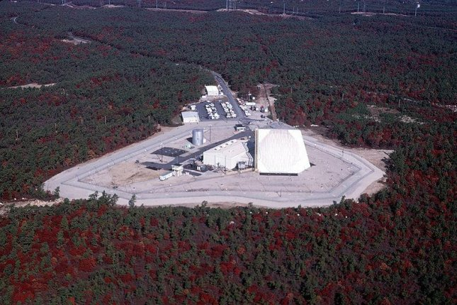 U.S. Air Force missile defense systems include radar systems such as the one at this site in the Northeast United States. USAF photo by CMSgt. Don Sutherland