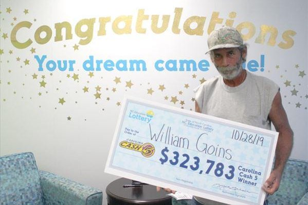 A North Carolina man said the numbers he used to win a Cash 5 jackpot are the same lottery numbers he's been using for 13 years. Photo courtesy of the North Carolina Education Lottery
