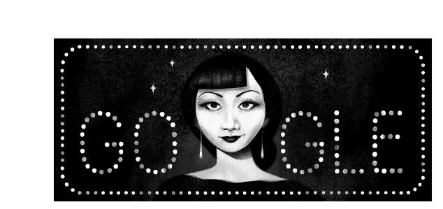 Google is paying homage to actress Anna May Wong with a new Doodle. Image courtesy of Google