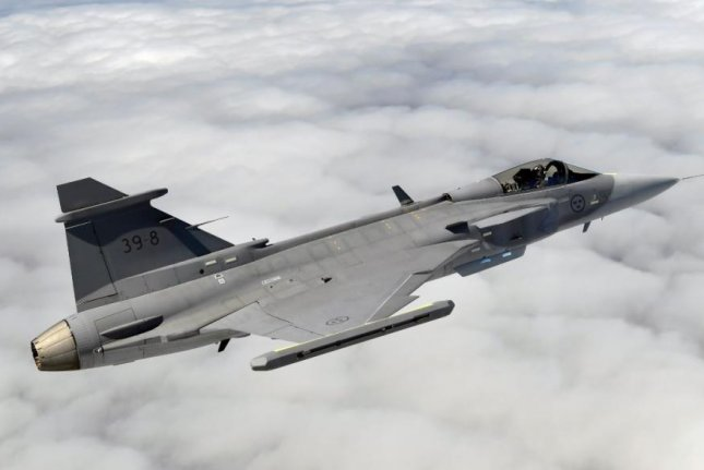 Swedish aerospace company Saab's proposal to Finland's Defense Force, announced on Friday, includes 64 Gripen aircraft, pictured, and two GobalEye Airborne Early Warning and Control planes. Photo courtesy of Saab Group
