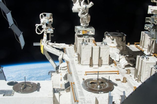 Researchers exposed bacteria to space from 2015 to 2018 using the Exposed Facility located on the exterior of Kibo, the Japanese Experimental Module of the International Space Station. Photo by JAXA/NASA