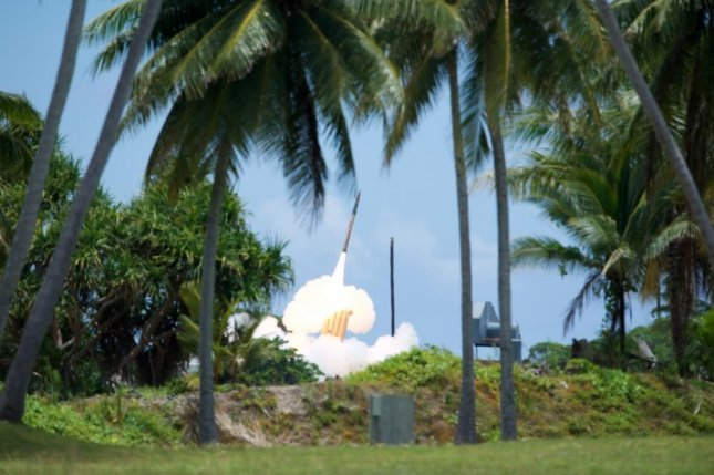 A THAAD interceptor is launched from the Reagan Test Site, Kwajalein Atoll in the Republic of the Marshall Islands, during Flight Test THAAD-23 in August 2019. Photo courtesy of the U.S. Missile Defense Agency