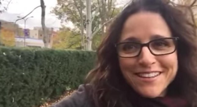 Julia Louis-Dreyfus wishing terminally ill Seinfeld superfan James Anthony Calder a Happy Birthday after his son reached out to the cast of the hit comedy series. Photo courtesy of James Calder/YouTube