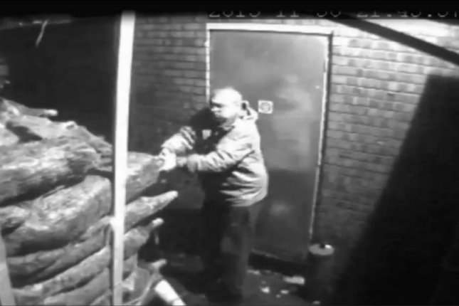 British police said two men stolen 190 Christmas trees from a store. Storyful video screenshot