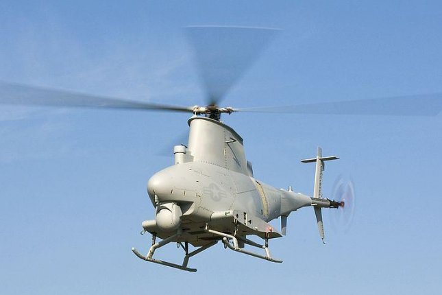 A U.S. Navy MQ-8B Fire Scout unmanned helicopter. U.S. Navy photo by Kelly Schindler
