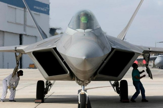F-22 figher planes of the U. S.-Canadian NORAD command intercepted six Russian planes late Thursday off the Alaskan coast. Photo courtesy of Lockheed Martin