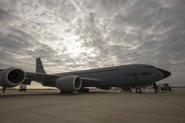 A KC-135 Stratotanker from the 121st Air Refueling Wing sits on the flightline at Rickenbacker Air National Guard Base, Ohio. Photo by Tiffany A. Emery/U.S. Air Force
