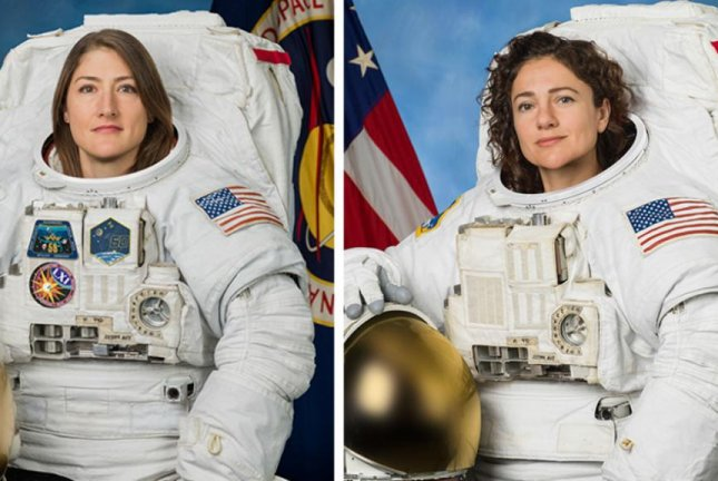 NASA astronauts Jessica Meir and Christina Koch will participate in the first all-female spacewalk this week when they venture outside the space station to repair a failed electrical component. Photo by NASA