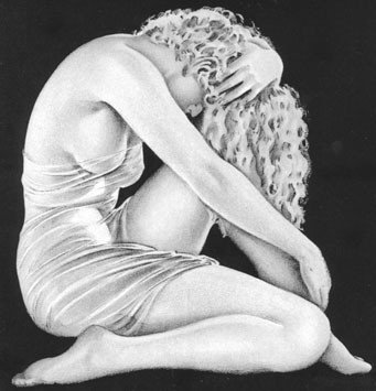 An image from the promotional poster for the 1930's B-film, The Sin of Nora Moran, one of the many titles included in Kinsey Collection according to The Kinsey Institute website.