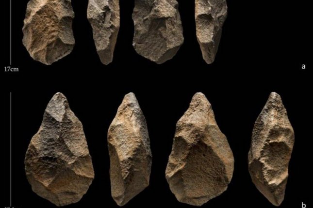 Researchers recovered more than 500 stone tools, including dozens of Acheulean hand axes, from the site of Saffaqah in Central Saudi Arabia. Photo by Ian R. Cartwright/Palaeodeserts