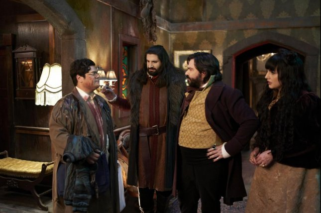 Left to right: Harvey Guillen, Kayvan Novak, Matt Berry and Natasia Demetrious will return for a third season of What We Do In the Shadows. Photo courtesy of FX