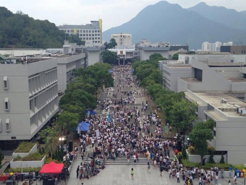 Students demonstrated Monday at the University of Hong Kong (CC/ Facebook/ Varsity CUHK)