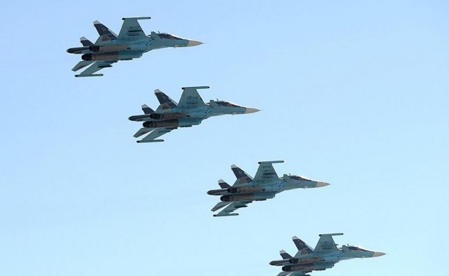 Russian fighter planes participated in Moscow's Victory Day parade, earlier in May. Photo courtesy: Office of the Russian President.