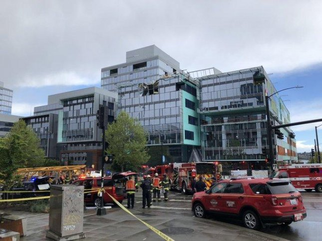 Four people died on April 27 when a crane collapsed in downtown Seattle, Wash. Photo courtesy of Seattle Fire Department/Twitter