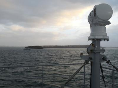 The BlueDome anti-piracy system. Photo: Saffran Group.