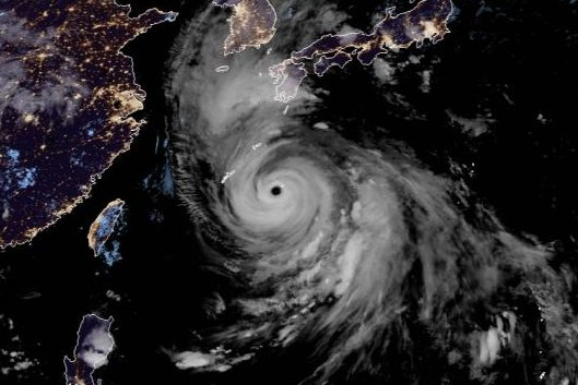Typhoon Haishen is the strongest typhoon of the 2020 season. Photo courtesy of the Cooperative Institute for Research in the Atmosphere