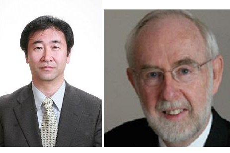 Japanese scientist Takaaki Kajita, left, and Canadian scientist Arthur B. McDonald have been awarded the 2015 Nobel Prize in Physics for their separate work on neutrino subatomic particles that led to the conclusion the elementary particle has mass. Photos courtesy of the Department of Physics, Engineering Physics & Astronomy/ Queen's University and the Institute for Cosmic Ray Research/University of Tokyo