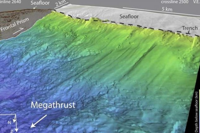New 3D images showcased the corrugated ridges formed by the subduction of the Cocos plate beneath the Caribbean plate. Photo by Edwards et al./Nature Geoscience