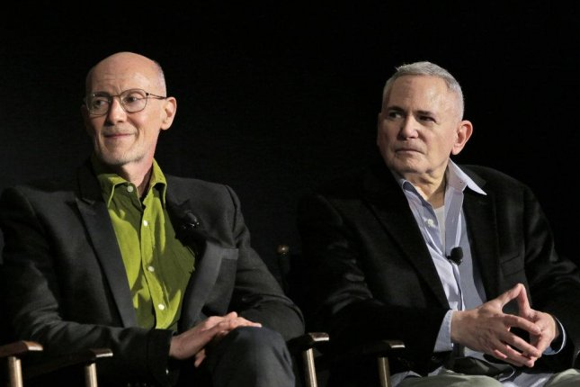 Neil Meron and Craig Zadan talk about their 2018 television musical Jesus Christ Superstar Live in Concert. Zadan died at the age of 69 Tuesday. Photo by Chris Haston/NBC