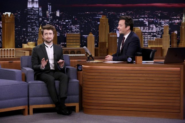 Daniel Radcliffe appeared on Wednesday's edition of The Tonight Show Starring Jimmy Fallon. Photo by Andrew Lipovsky/NBC