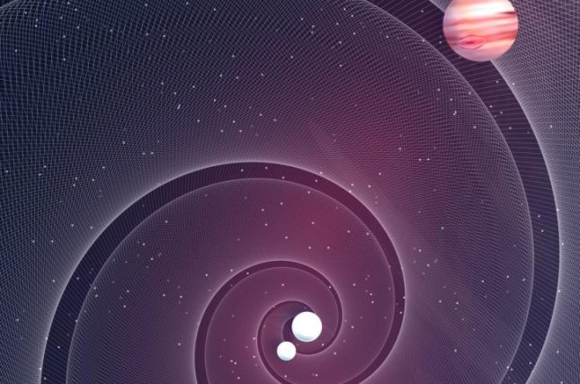 Exoplanets orbiting a pair of white dwarfs should cause the gravitational wave signal produced by the binary star system to wobble slightly, according to a new research paper. Photo by Simonluca Definis