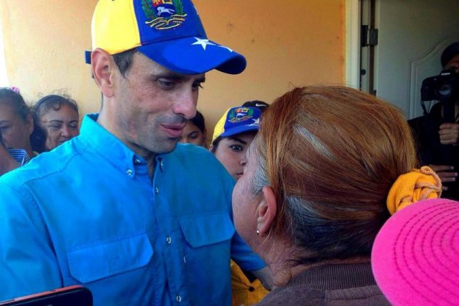 Henrique Capriles Radonski, governor of Venezuela's Miranda state and a key opposition leader, on Monday declared a state of emergency over food insecurity in his region, which includes the capital Caracas. Photo courtesy of Henrique Capriles Radonski
