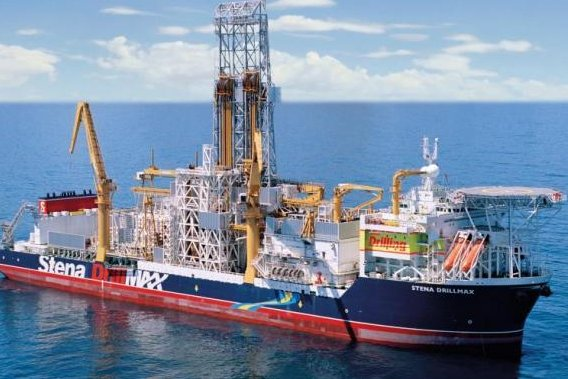 Drillship exploring the waters offshore Senegal released as companies end a five-well campaign on a high note. Photo courtesy of Cairn Energy.