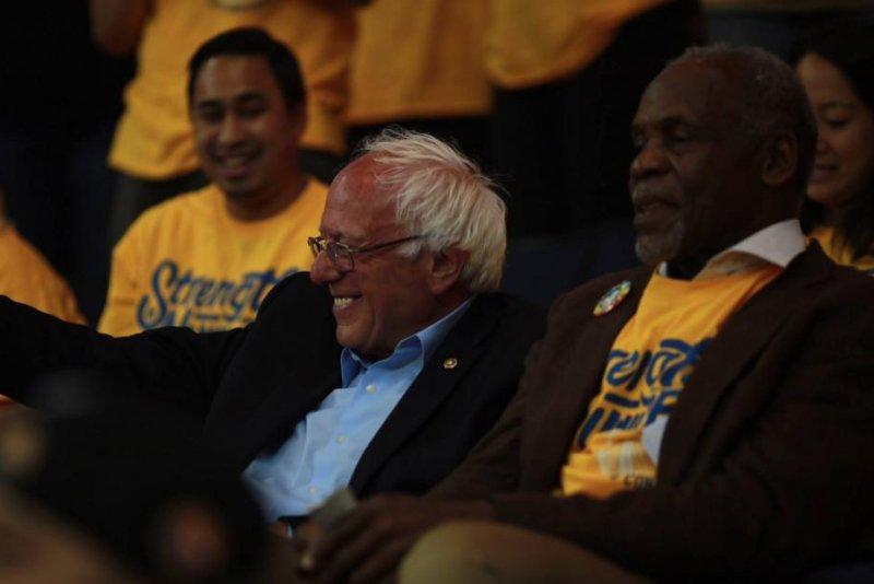 Vermont Senator Bernie Sanders and actor Danny Glover. (Bernie Sanders/Facebook)