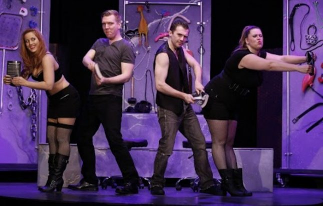 Image of cast members from Cuff Me: The Fifty Shades of Grey Musical Parody, courtesy of Entertainment Events.