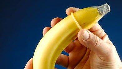 Demonstration of proper condom usage. (PD/U.S. Gov.)